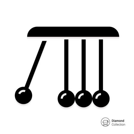 Vector icon of Newton cradle balancing balls