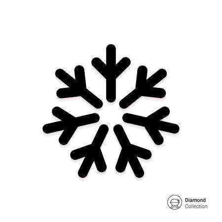 resfriado: Icono del vector del copo de nieve fr�a signo que representa Foto de archivo