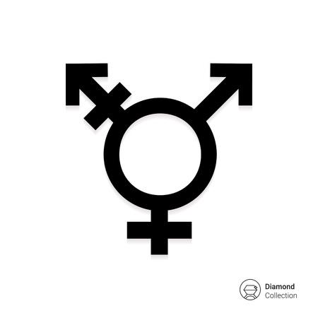 transsexual: Vector icon of transgender symbol combining gender symbols