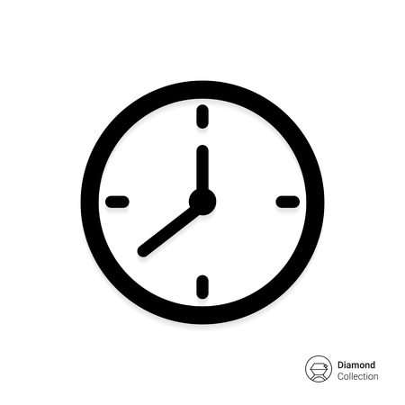 round icons: Vector icon of wall clock