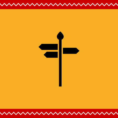 directions icon: Vector icon of direction sign with arrow boards showing various directions Illustration