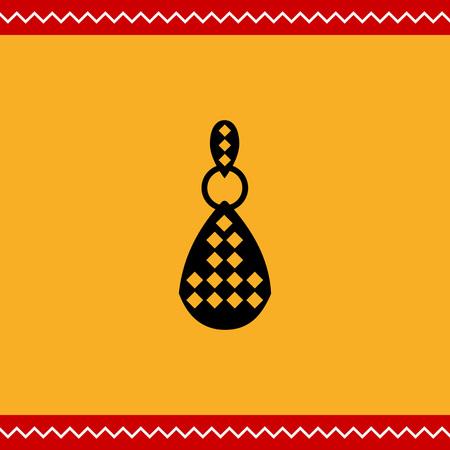 edelstenen: Vector pictogram van een oorbel met edelstenen Stock Illustratie