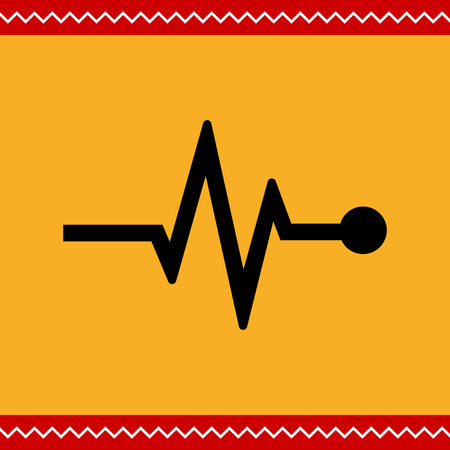 rhythm: Vector icon of electrocardiogram graph indicating heart rhythm