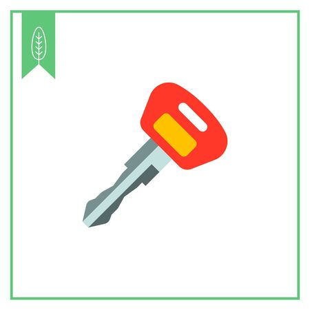ignition: Ignition key icon Illustration