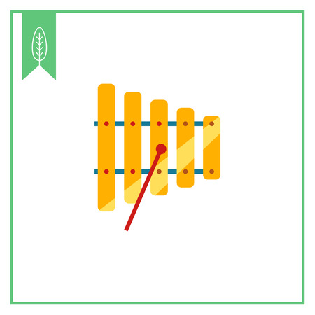 mallet: Icon of xylophone with mallet Illustration