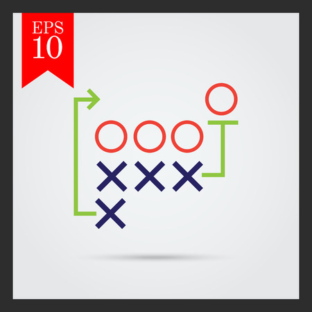 tactics: Icon of football tactics plan