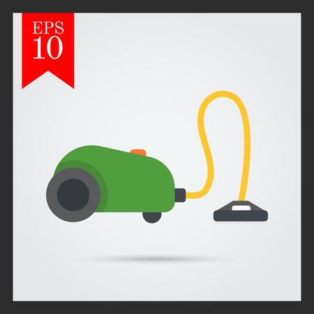 vacuum cleaner: Icon of green vacuum cleaner