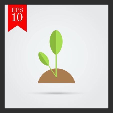 spout: Icon of growing green spout