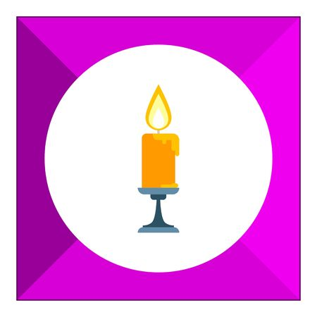 burning: Icon of burning candle in sconce