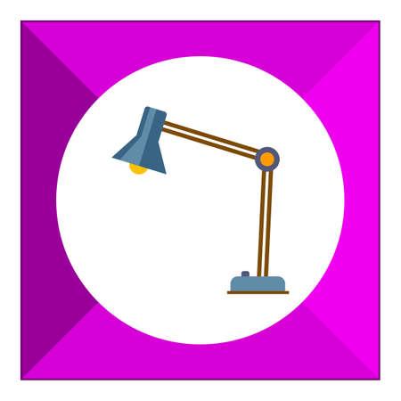 desk: Desk lamp icon