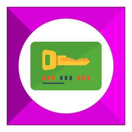keycard: Icon of electronic keycard Illustration