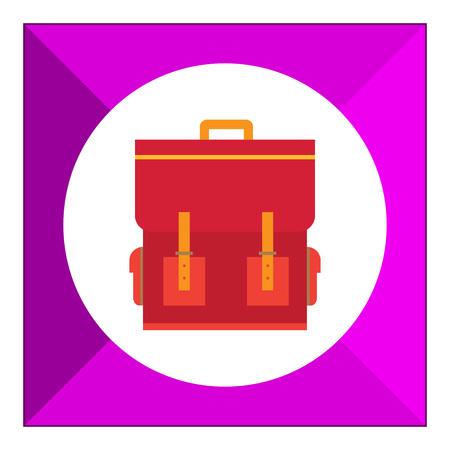 schoolbag: Red schoolbag icon
