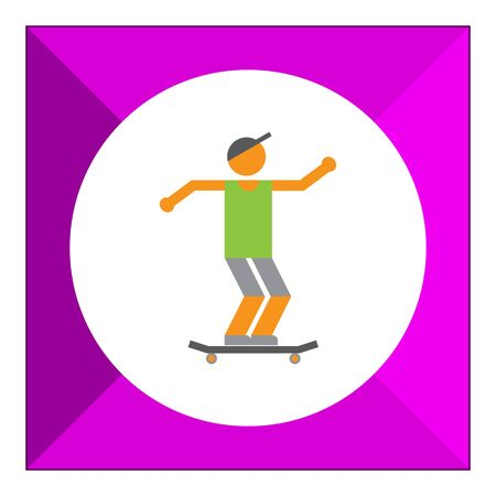 boy skater: Icon of teenage skater boy