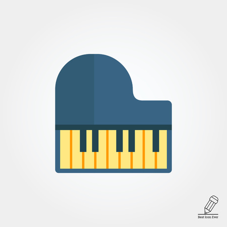 piano key: Grand piano icon