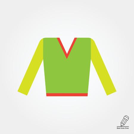 v neck: Icon of v-neck male sweater Illustration
