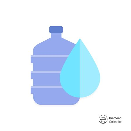 dispenser: Vector icon of water dispenser with drop