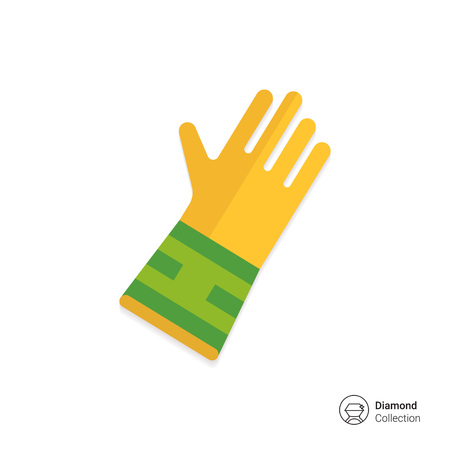 rubber glove: Icon of protective rubber glove