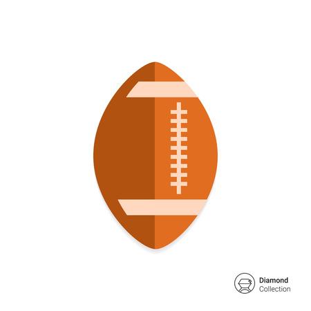rugby ball: Icono del balón de Rugby