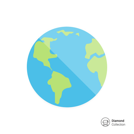 flat earth: Planet Earth icon Illustration