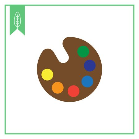 paint samples: Vector icon of drawing palette with various paint samples Illustration