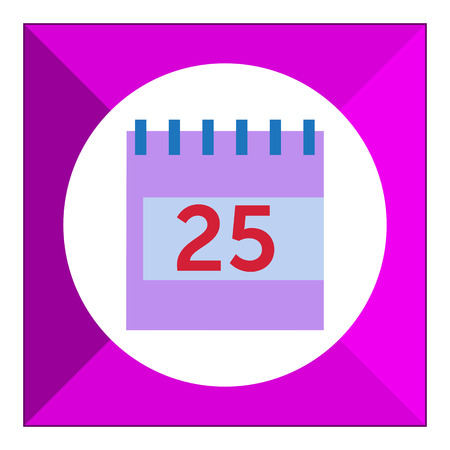calendar page: Vector icon of flip calendar page with date