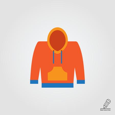 sweatshirt: Icono del vector de amarillo y azul sudadera con capucha Vectores