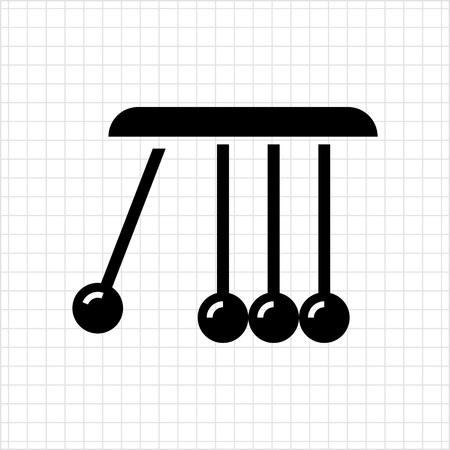 newton cradle: Vector icon of Newton cradle balancing balls