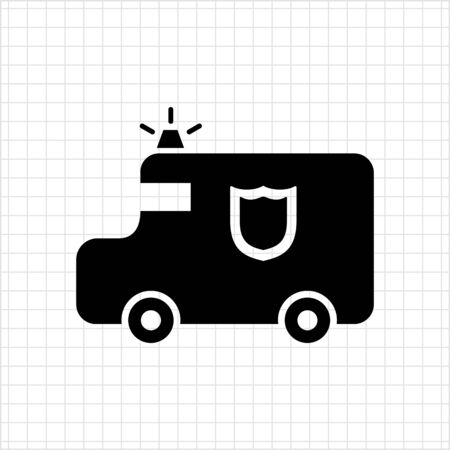 Vector pictogram van contant geld doorvoer van met beamer en schildembleem Stock Illustratie