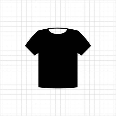 unisex: Vector icon of classic unisex t-shirt silhouette