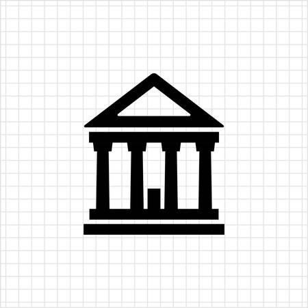 verdicts: Icon of classic court building Illustration