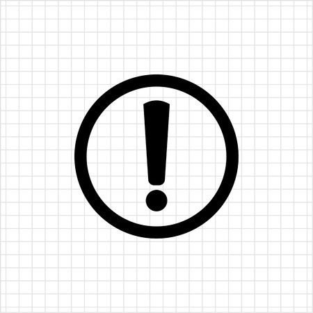 signo de admiracion: Vector icon of exclamation mark in circle