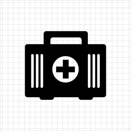 erste hilfe koffer: First aid kit icon