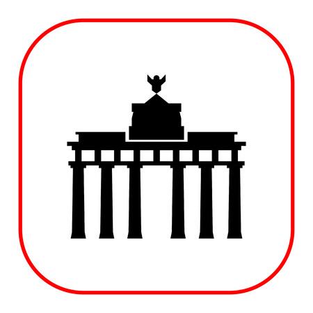 east berlin: Brandenburg gate icon