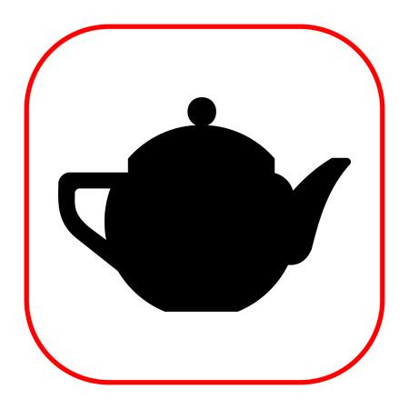 ceramic: Vector icon of ceramic  teapot with cover Vectores