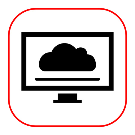 screensaver: Icon of computer monitor with cloud screensaver