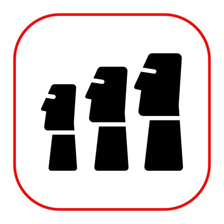 easter island: Icon of Moai statues from Easter Island Illustration