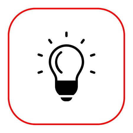 filament: Glowing bulb icon