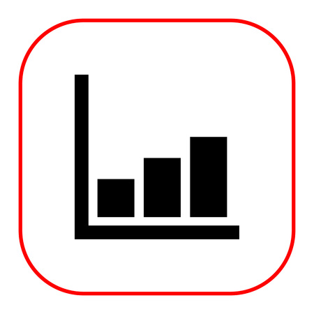 histogramme: Icon of growing histogram