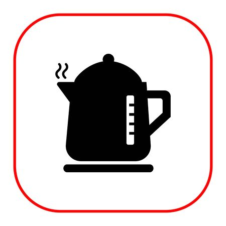 spout: Vector icon of hot electric kettle silhouette Illustration