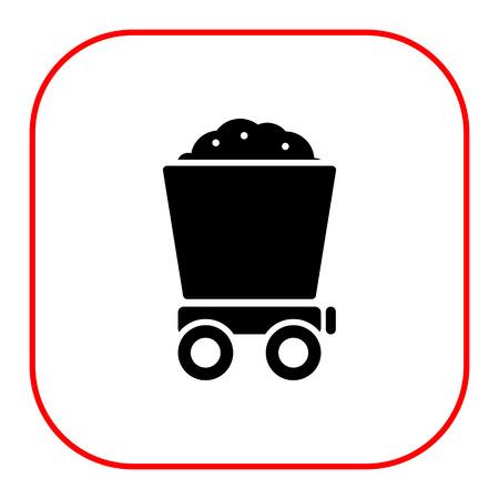 wagon: Icon of loaded wagon Illustration