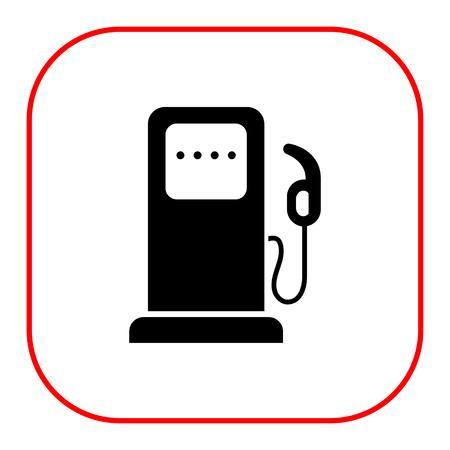 Icono de la estación de gasolina Ilustración de vector