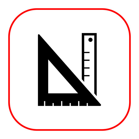 set square: Icon of ruler and set square