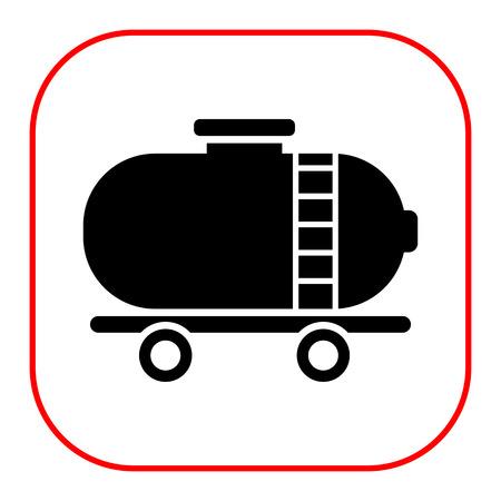 cistern: Icon of railroad tank wagon