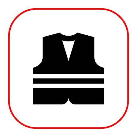 noticeable: Safety vest icon Illustration