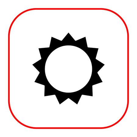 beams: Icon of stylized sun with beams Illustration