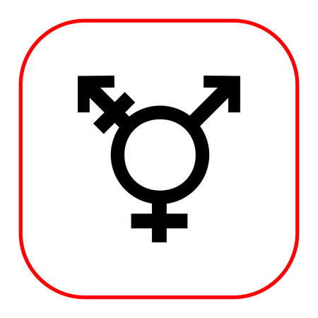 性別記号を組み合わせてトランスジェンダー シンボルのベクター アイコン  イラスト・ベクター素材
