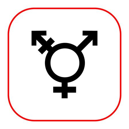 transexual: Icono del vector de la combinaci�n de s�mbolo transg�nero s�mbolos de g�nero Vectores