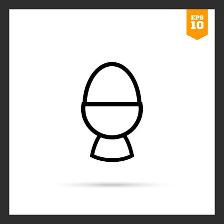 boiled egg: Icon of boiled egg in egg cup