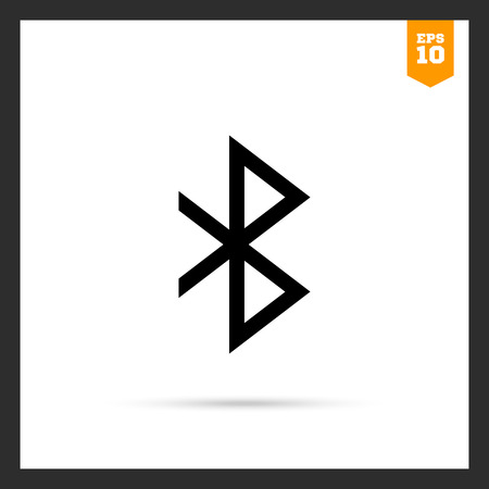 bluetooth: Vector icon of monochrome Bluetooth connection sign