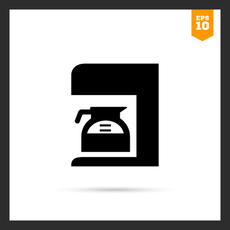 coffee jar: Vector icon of coffee maker with jar filled with coffee